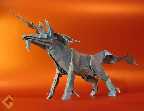 Unicorn designed by Kamiya Satoshi and folded by Grzegorz Bubniak
