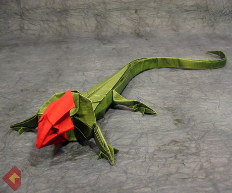 origami lizard tutorial by.Roman Diaz - YouTube | 383x460