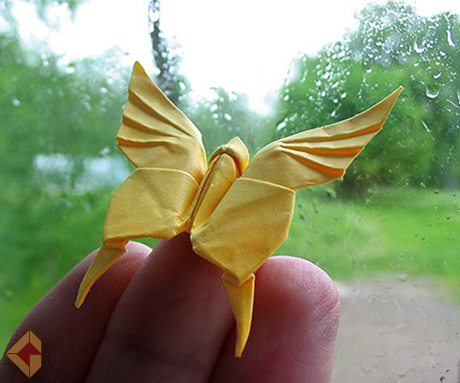 Butterfly designed by Akira Yoshizawa and modified by Grzeogorz Bubniak