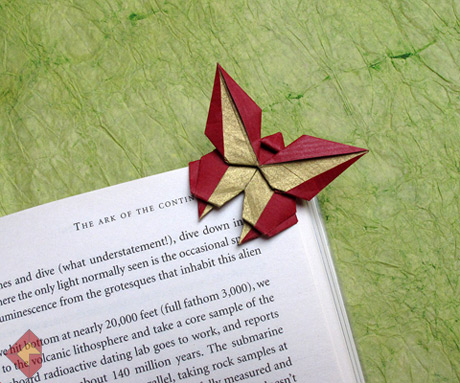 Butterfly Bookmark designed and folded by Grzegorz Bubniak