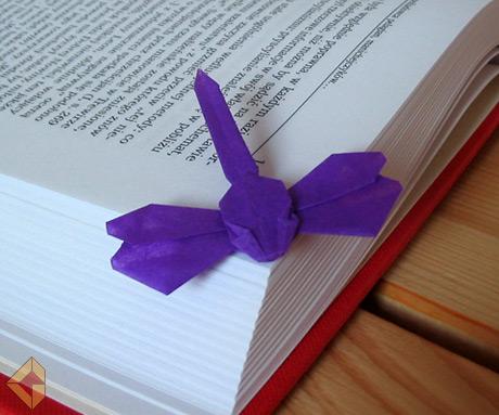 Dragonfly Bookmark designed and folded by Grzegorz Bubniak