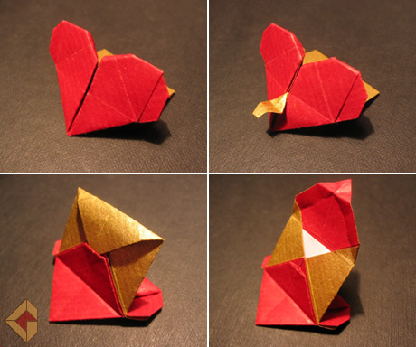 Heart with envelope designed and folded by Grzegorz Bubniak
