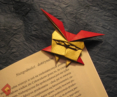 Owl Bookmark designed and folded by Grzegorz Bubniak