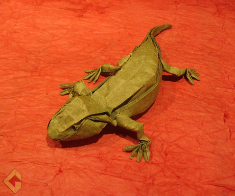 Salamander designed and folded by Grzegorz Bubniak