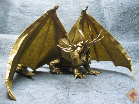Ancient Dragon designed by Kamiya Satoshi and folded by Grzegorz Bubniak