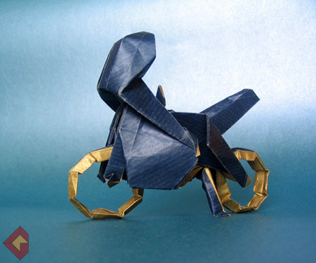 Motorcycle Type 1 designed by Issei Yoshino and folded by Grzegorz Bubniak