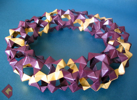 Torus designed by Thomas Hull and folded by Grzegorz Bubniak